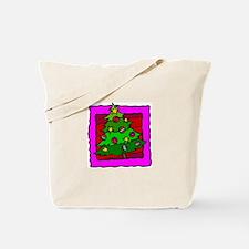 Bright Pink Tree Tote Bag