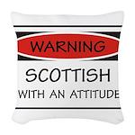 Attitude Scottish Woven Throw Pillow