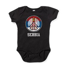 Peace In Serbia Baby Bodysuit