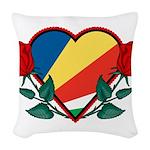 Heart Seychelles Woven Throw Pillow