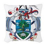 Seychelles Coat Of Arms Woven Throw Pillow