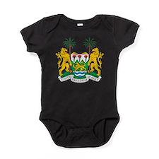 Sierra Leone Coat Of Arms Baby Bodysuit