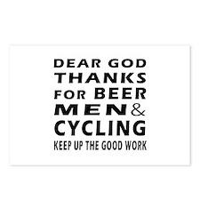 Beer Men and Curling Postcards (Package of 8)