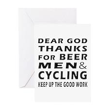 Beer Men and Curling Greeting Card