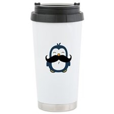 Mustache Penguin Trend Travel Mug