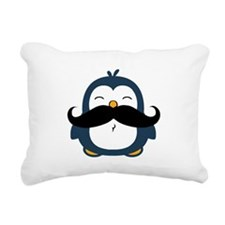Mustache Penguin Trend Rectangular Canvas Pillow