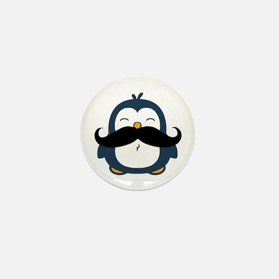 Mustache Penguin Trend Mini Button
