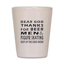 Beer Men and Figure Skating Shot Glass