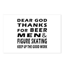 Beer Men and Figure Skating Postcards (Package of
