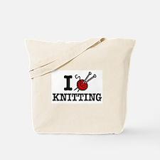 I Love Knitting Tote Bag