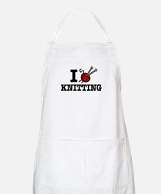 I Love Knitting BBQ Apron