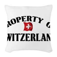 Switzerland Flag Woven Throw Pillow