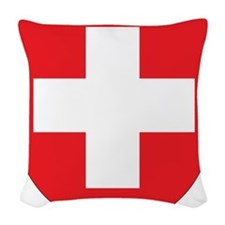 Switzerland Coat Of Arms Woven Throw Pillow
