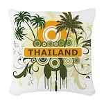 Palm Tree Thailand Woven Throw Pillow