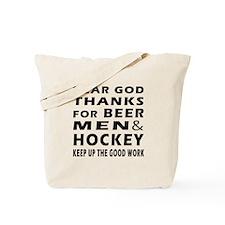 Beer Men and Hockey Tote Bag