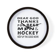Beer Men and Hockey Wall Clock