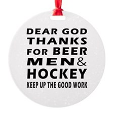Beer Men and Hockey Ornament