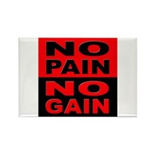 No Pain No Gain Rectangle Magnet