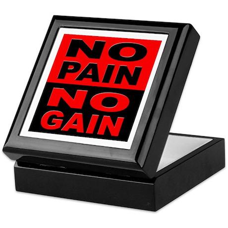 No Pain No Gain Keepsake Box