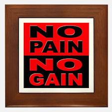 No Pain No Gain Framed Tile
