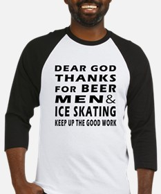 Beer Men and Ice Skating Baseball Jersey