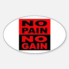 No Pain No Gain Oval Decal