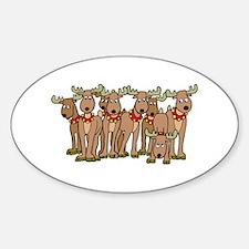 Reindeer Oval Decal