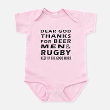 Beer Men and Rugby Infant Bodysuit
