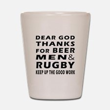 Beer Men and Rugby Shot Glass