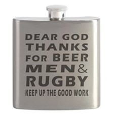 Beer Men and Rugby Flask