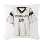 Personalized Sports Jersey Woven Throw Pillow