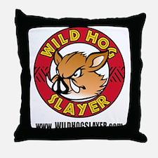 Wild Hog Hunters Worldwide Throw Pillow