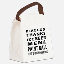 Beer Men and Paint Ball Canvas Lunch Bag