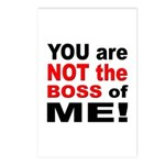 Not the Boss of Me Postcards (Package of 8)