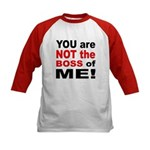 Not the Boss of Me (Front) Kids Baseball Jersey