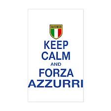 Keep Calm and Forza Azzurri Decal