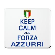 Keep Calm and Forza Azzurri Mousepad