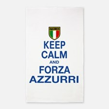 Keep Calm and Forza Azzurri 3'x5' Area Rug