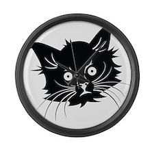 Cat Large Wall Clock