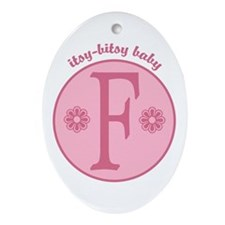 Baby F Oval Ornament