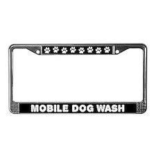 Mobile Dog Wash License Plate Frame