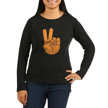 International Peace Hand Women's Long Sleeve Dark