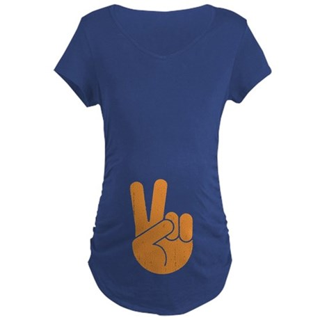 International Peace Hand Maternity Dark T-Shirt