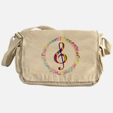 Music in the Round Messenger Bag