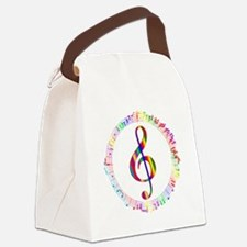 Music in the Round Canvas Lunch Bag