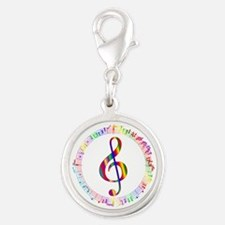 Music in the Round Silver Round Charm