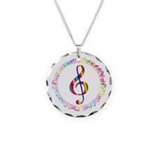 Music in the Round Necklace Circle Charm