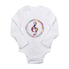 Music in the Round Long Sleeve Infant Bodysuit