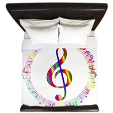 Music in the Round King Duvet