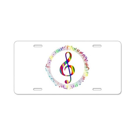 Music in the Round Aluminum License Plate
